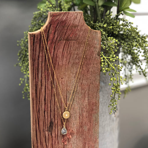 Druzy Jewelry | Layered Charm Necklace