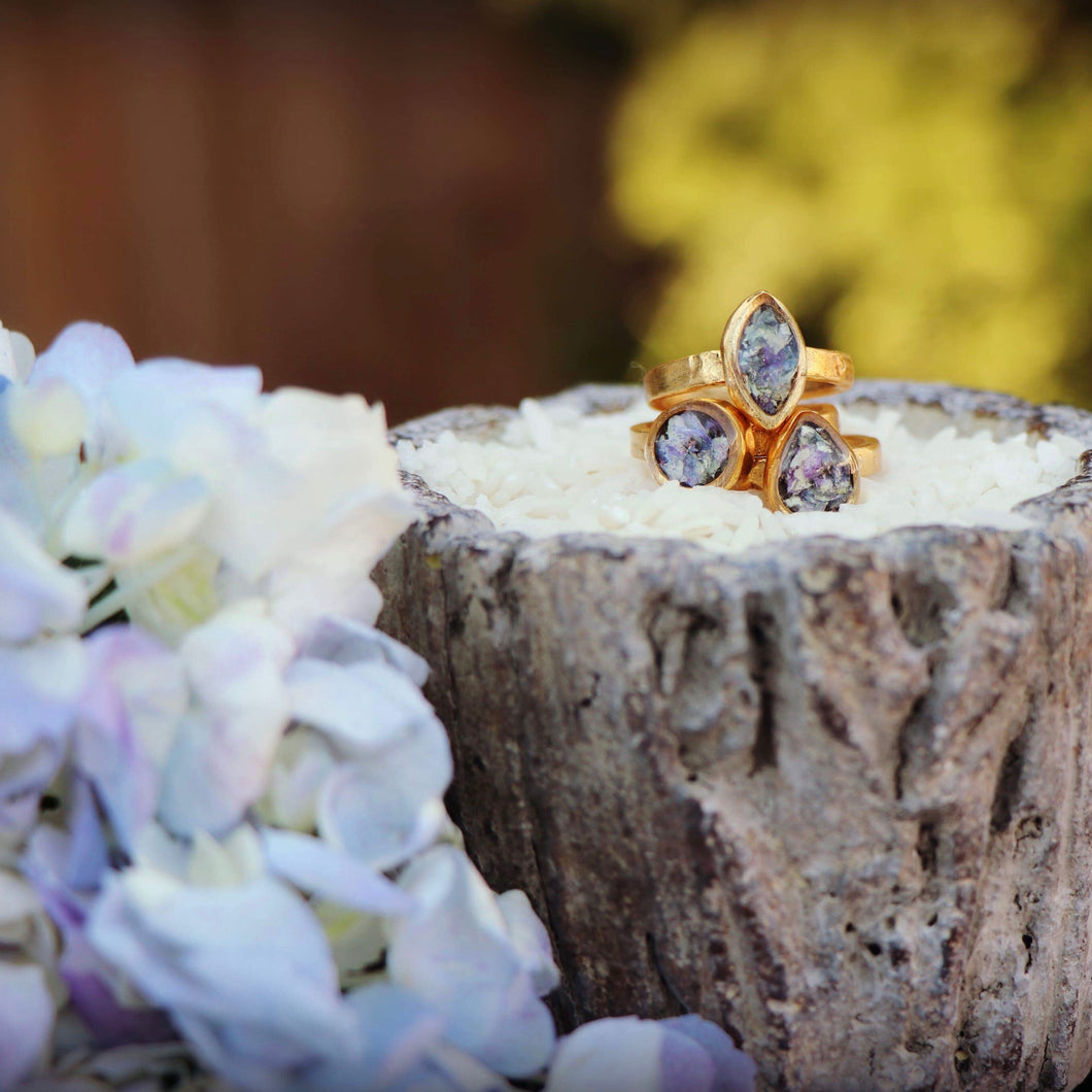 Memory Flower Jewelry | Organic Stack Rings