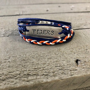 Personalized Jewelry | Team Spirit Leather Bracelet