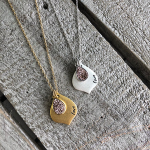 Personalized Jewelry | Marrakesh Druzy Necklace