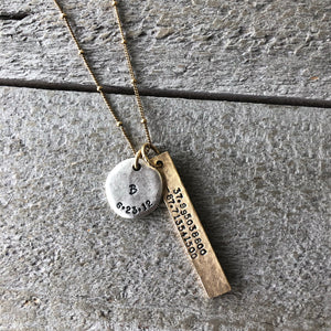 Personalized Jewelry | Coordinate Necklace