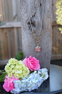 Memory Flower Jewelry | Long Beaded Necklace