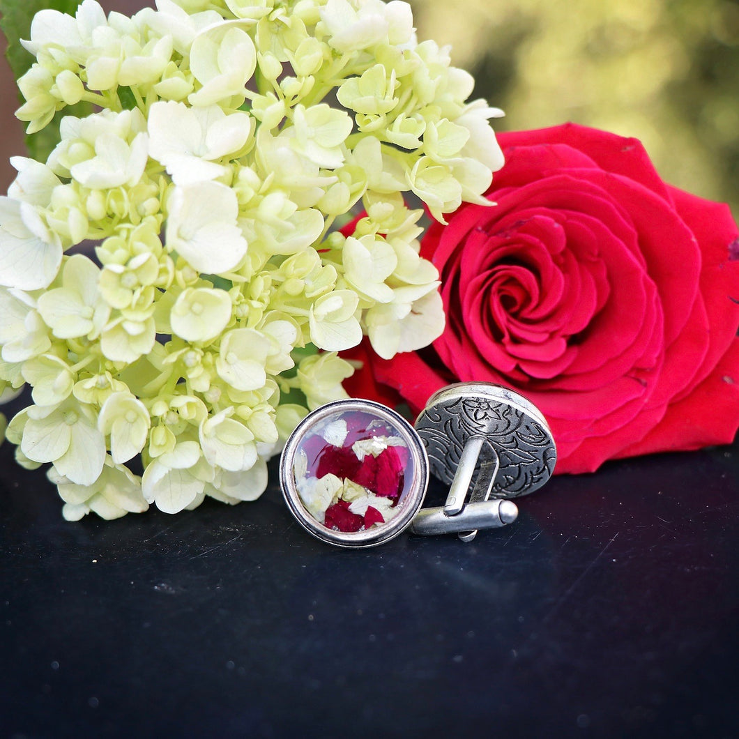 Memory Flower Jewelry | Cuff Links