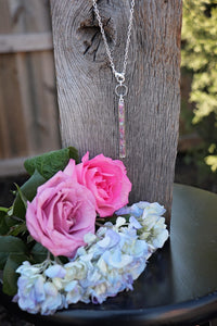 Memory Flower Jewelry | Long Narrow Bar Necklace