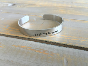 Personalized Jewelry | Thick Metal Cuff