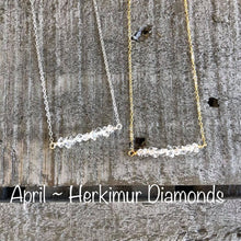 Load image into Gallery viewer, herkimur diamond birthstone necklace