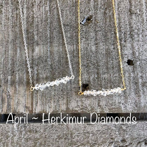 herkimur diamond birthstone necklace
