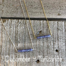 Load image into Gallery viewer, Tanzanite bar necklace