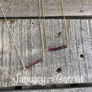 Garnet birthstone necklace