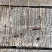 Load image into Gallery viewer, ruby birthstone necklace