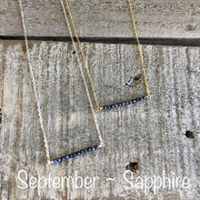 Load image into Gallery viewer, sapphire birthstone necklace