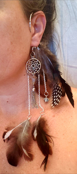 Earring - cuff - dragon dreamcatcher