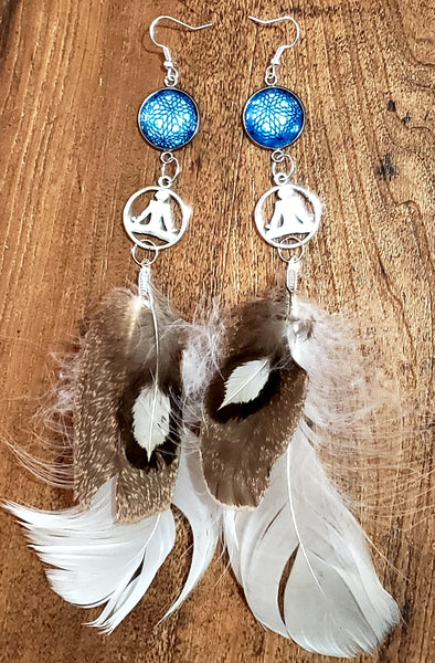 Earrings - Yoga meditaion