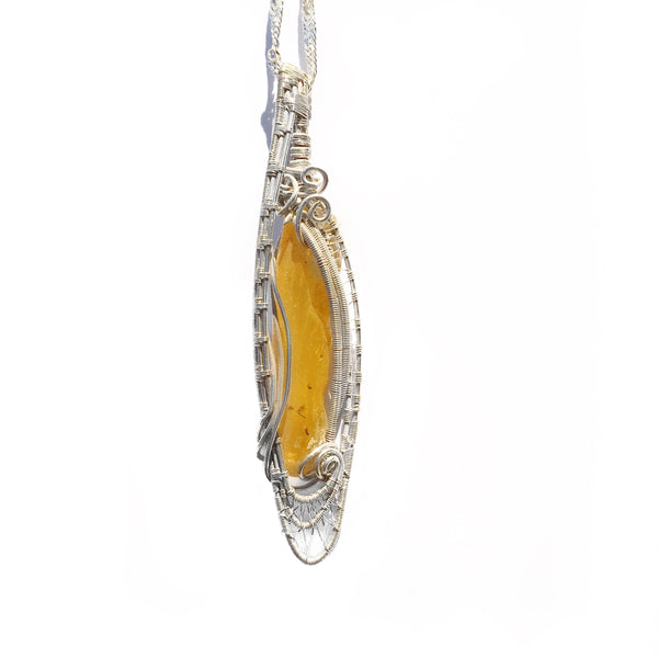 Wire - Amber pendant