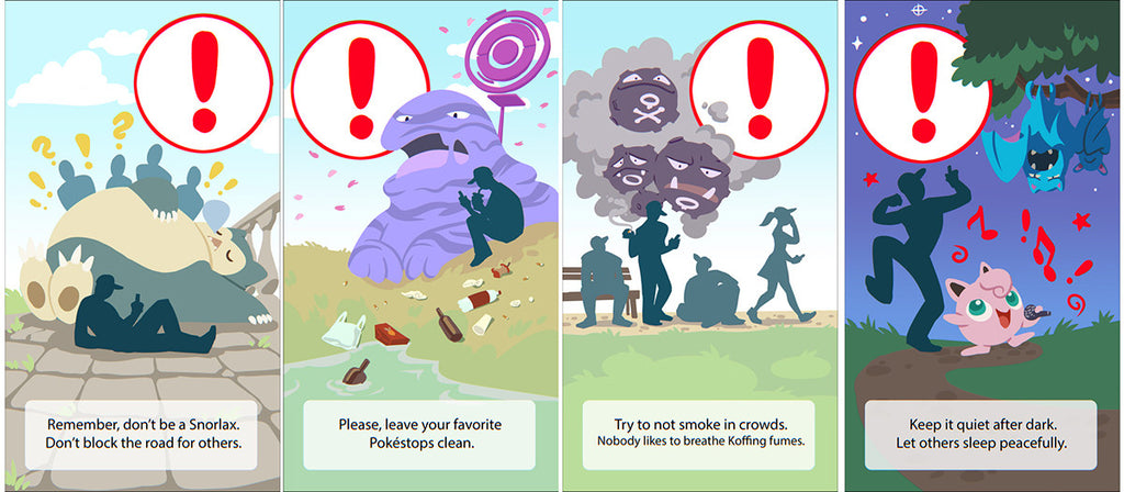 More Warning Screens For Pokémon GO - Illustrated