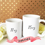 Mr. & Mrs. Set with Custom Name & Date