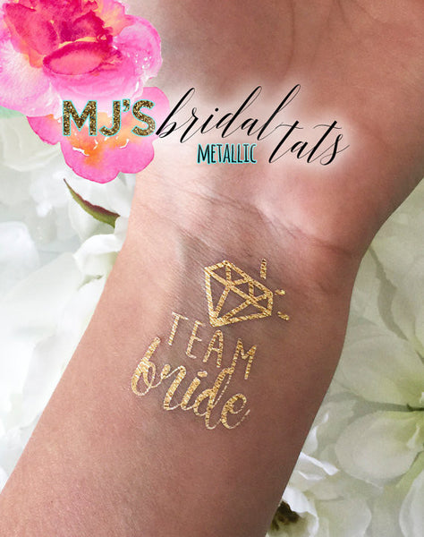 METALLIC DIAMOND TEAM BRIDE TATTOO
