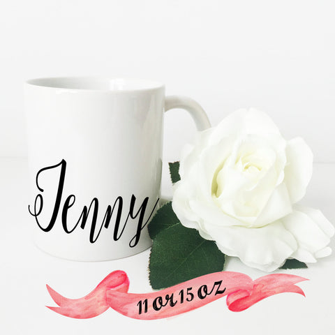 Bridesmaid Name Script Mug