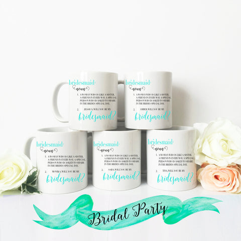 Bridesmaid Definition Proposal Mug