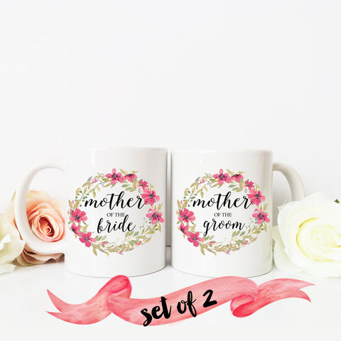 Mother of the Bride & Mother of the Groom Wreath Mugs