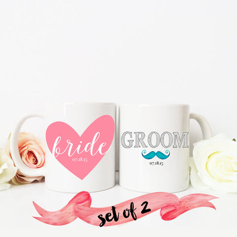 Bride & Groom Mug with Custom Date