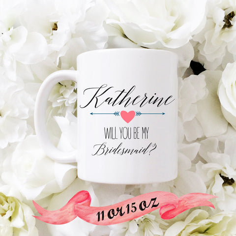 Bridesmaid Proposal Mug with Arrows
