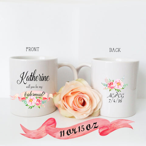 Bridesmaid Proposal Banner with Back Mug