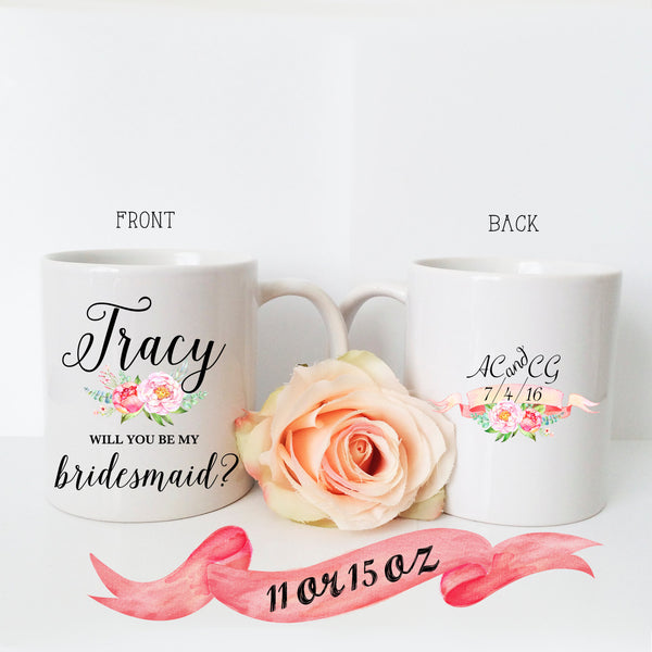 Bridesmaid Proposal Mug with Back