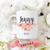 Bridesmaid Mug Gold and Pink