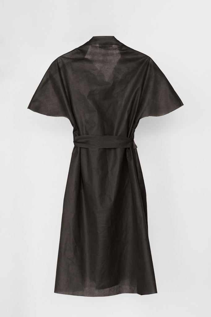Little Tan Wrap Dress - The No Mess Dress