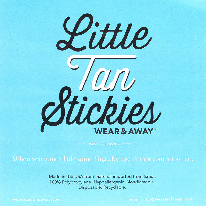 Little Tan Stickies - Disposable Thong and Pasty