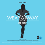 Package for Wear & Away robe for sunless tanning