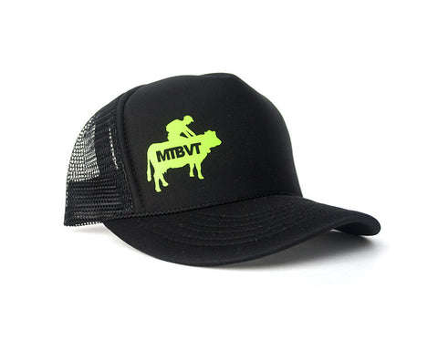 Mad Cow Hat - Black with Green Logo