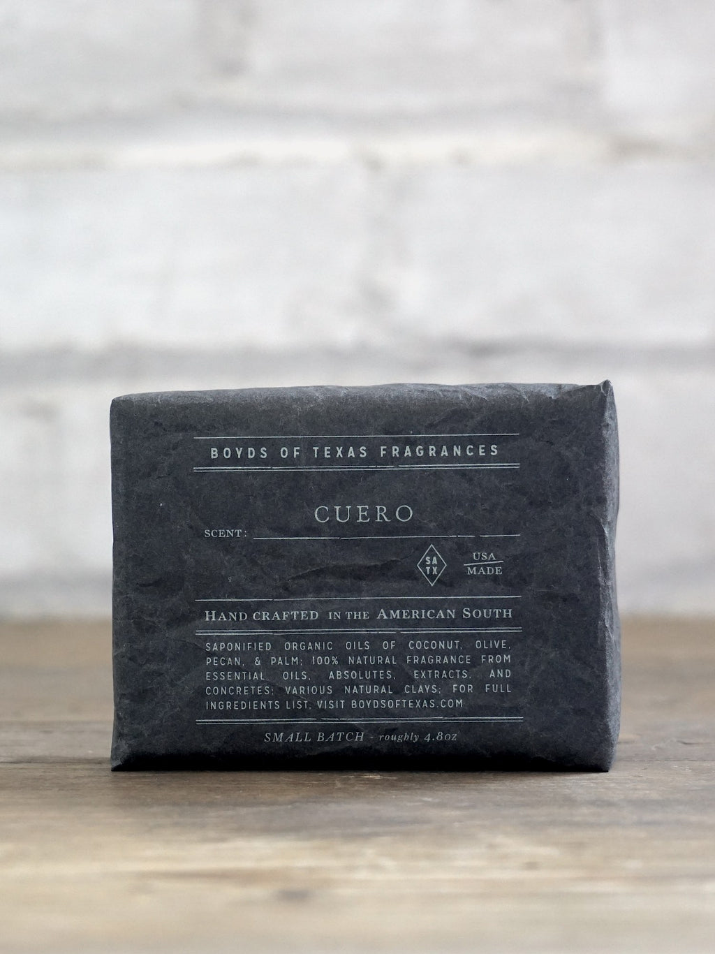 Handmade Charcoal Soap Bar - Cuero - Boyds of Texas