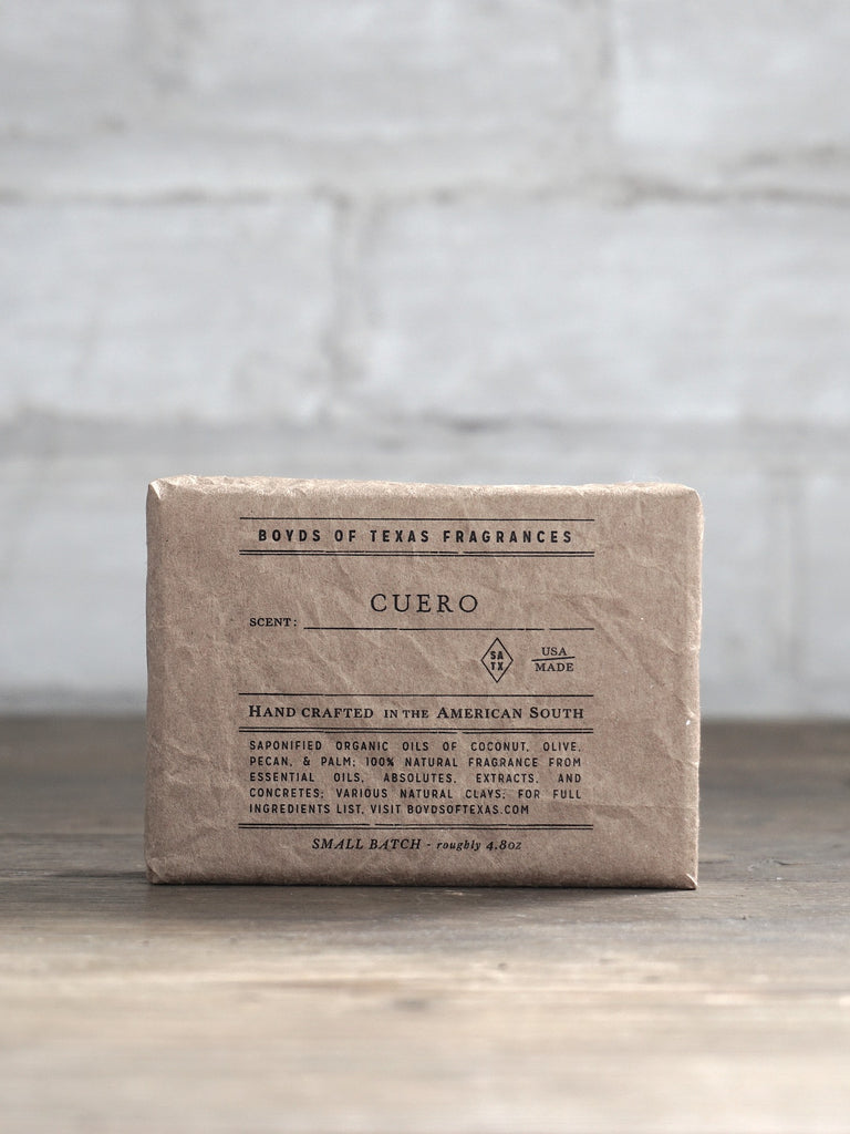 Cuero - Natural Bar Soap - Boyd's of Texas Fragrances - Natural Perfume