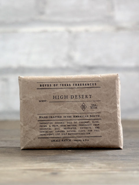 Handmade Natural Soap Bar - High Desert - Boyds of Texas