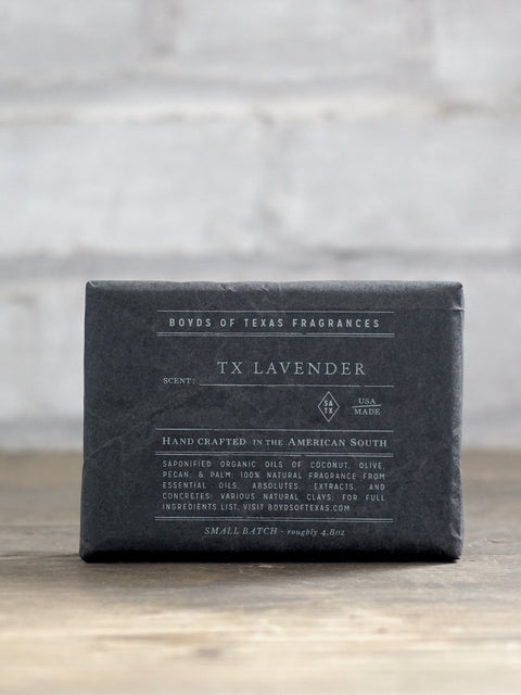 Handmade Charcoal Soap Bar - TX Lavender - Boyds of Texas