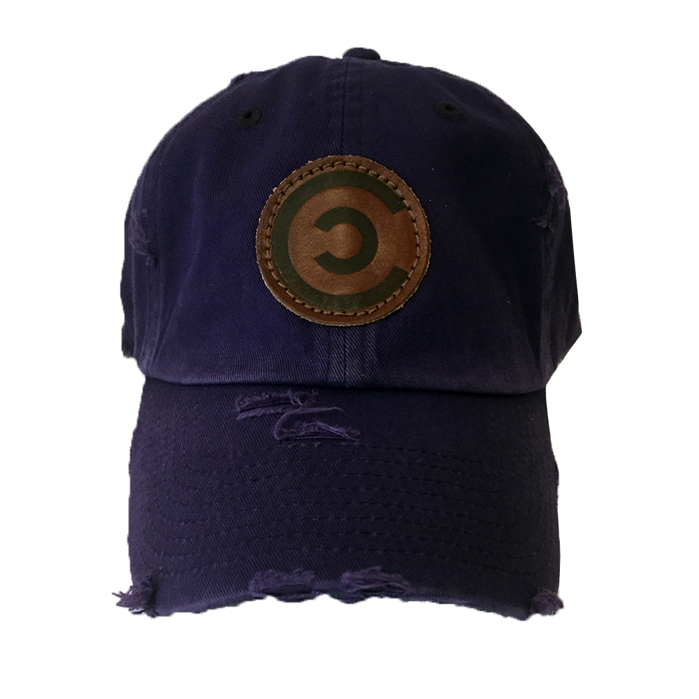 Royal Purple Distressed Dad Cap