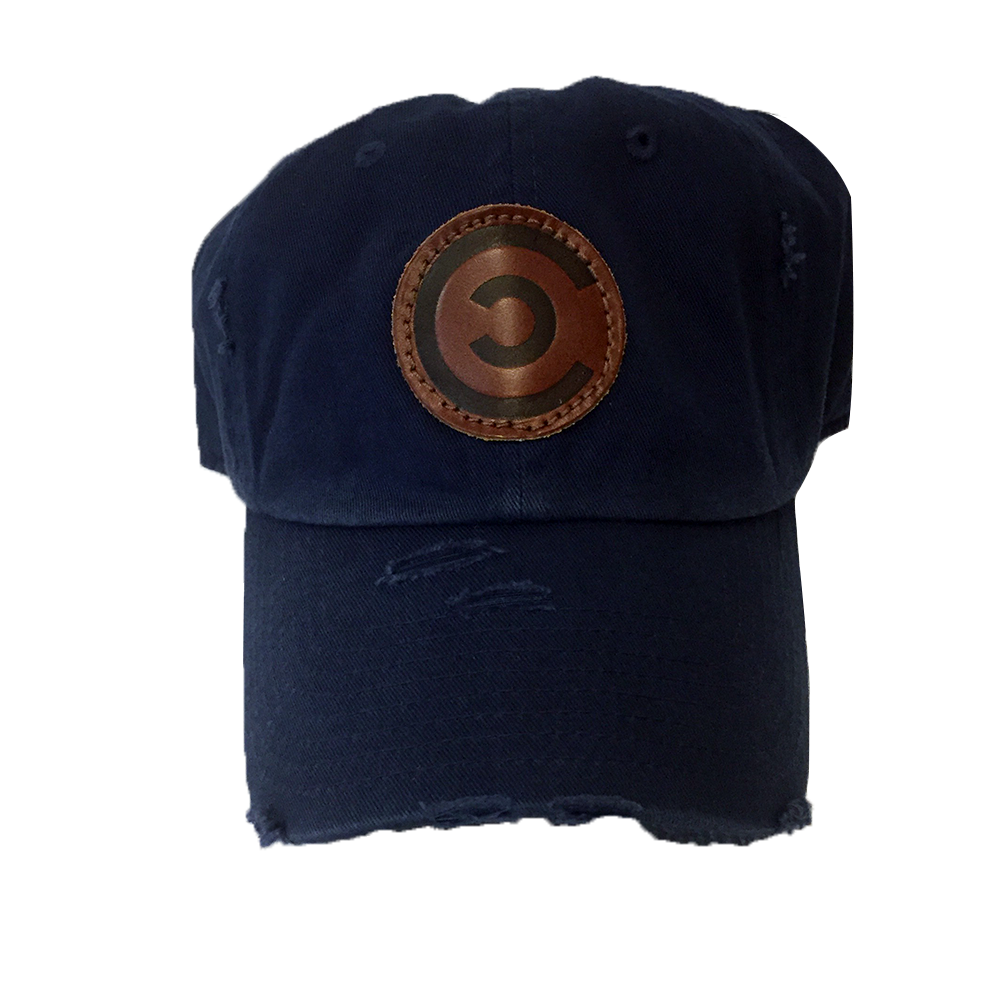 Navy Distressed Blue DadCap