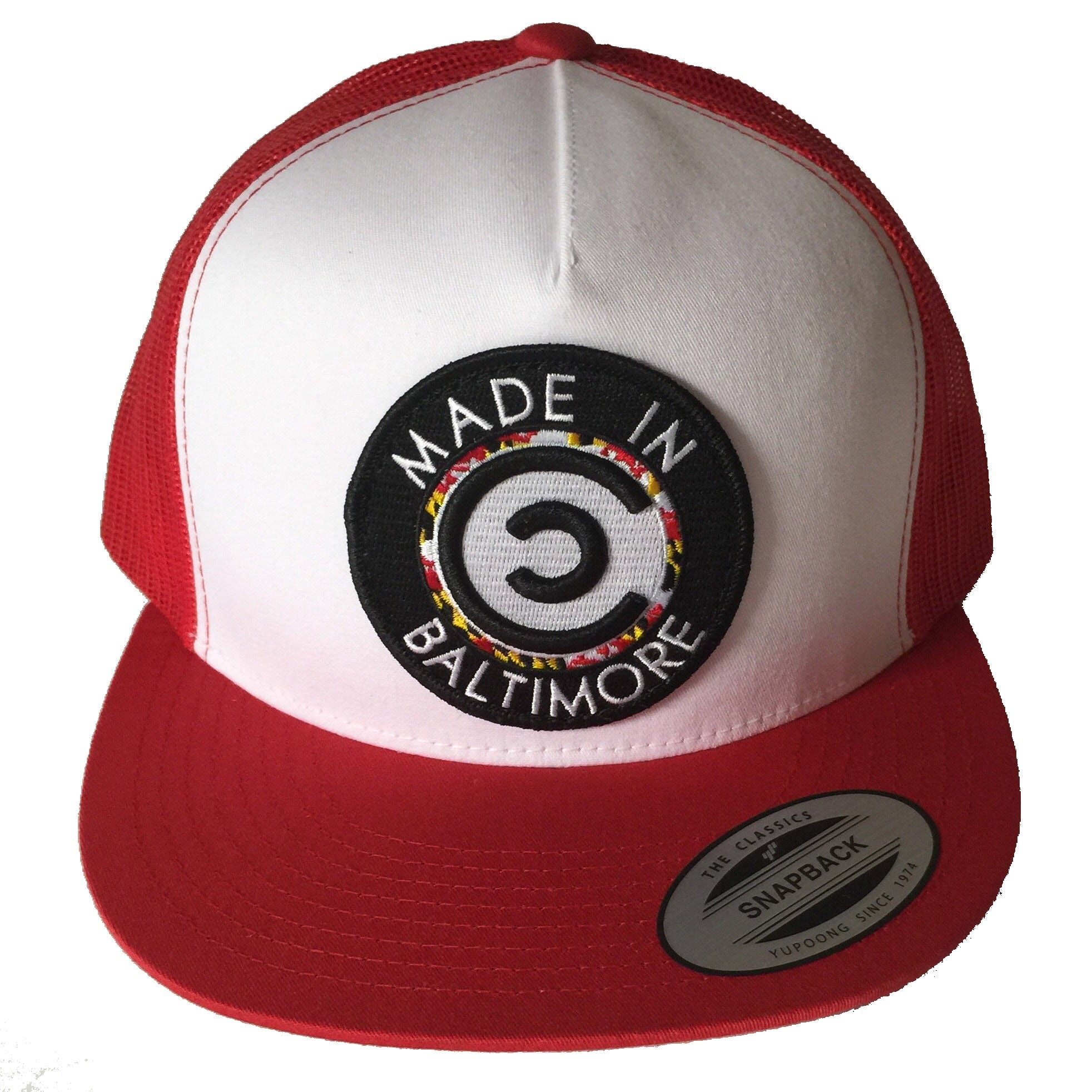 Red & White Made In Baltimore SnapBack