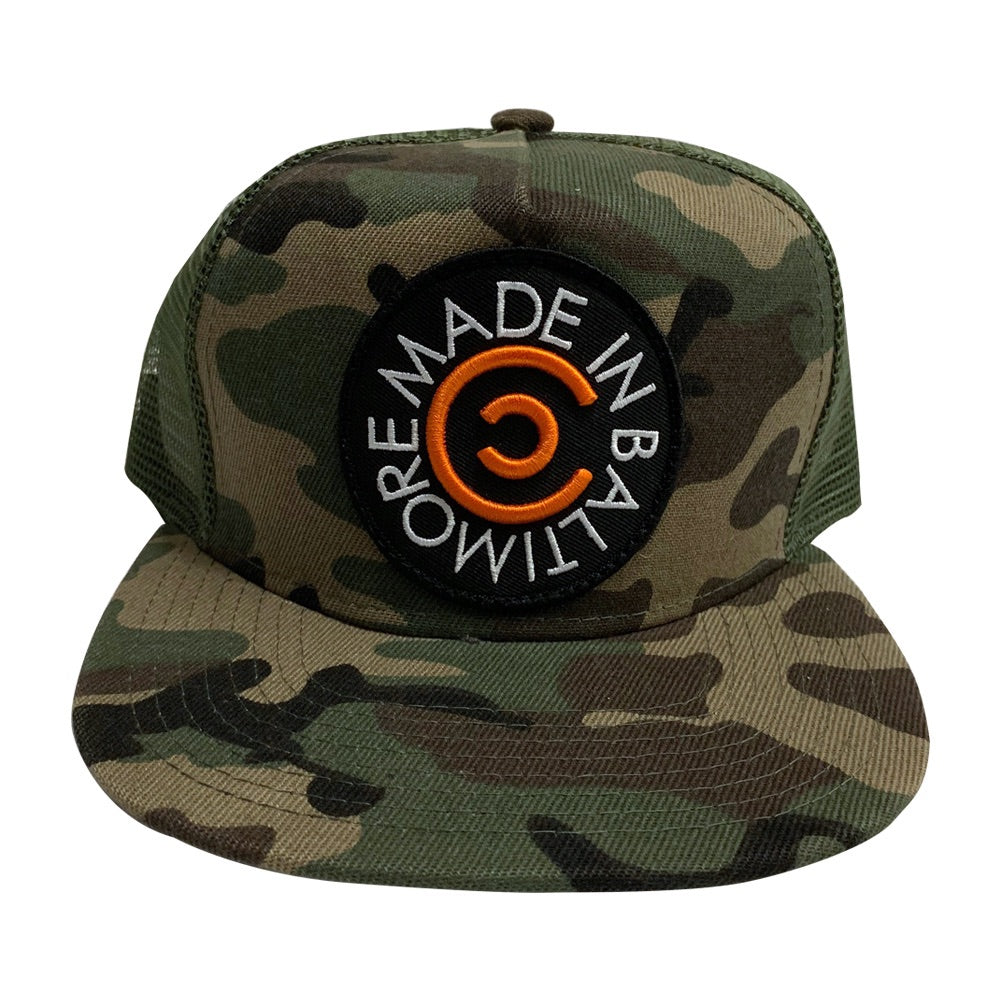 Black/Orange Made In Baltimore on Camo