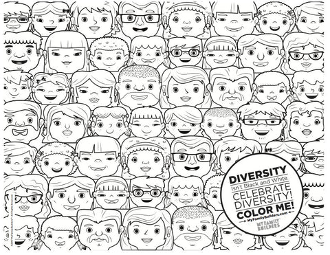 diversity coloring pages for children - photo#17