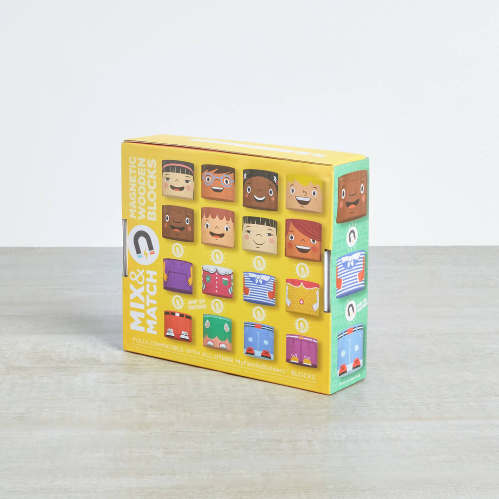 My Family Builders Friends Edition Set - wooden baby toys,  learning toys for toddlers