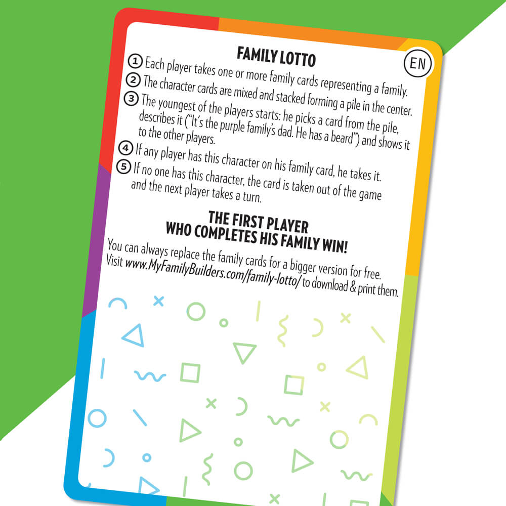 Family game, Inclusion, Diversity. Le jeu de sept famille