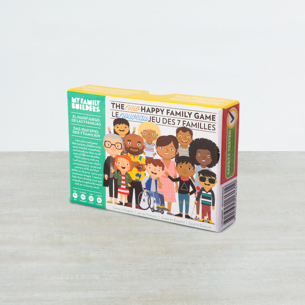 My Family Builders Happy Family Card Game for Kids and Families – Encourage Communication about Inclusion, Multicultural Diversity and Empathy via Fun Games for 2-4 Players Ages 4+