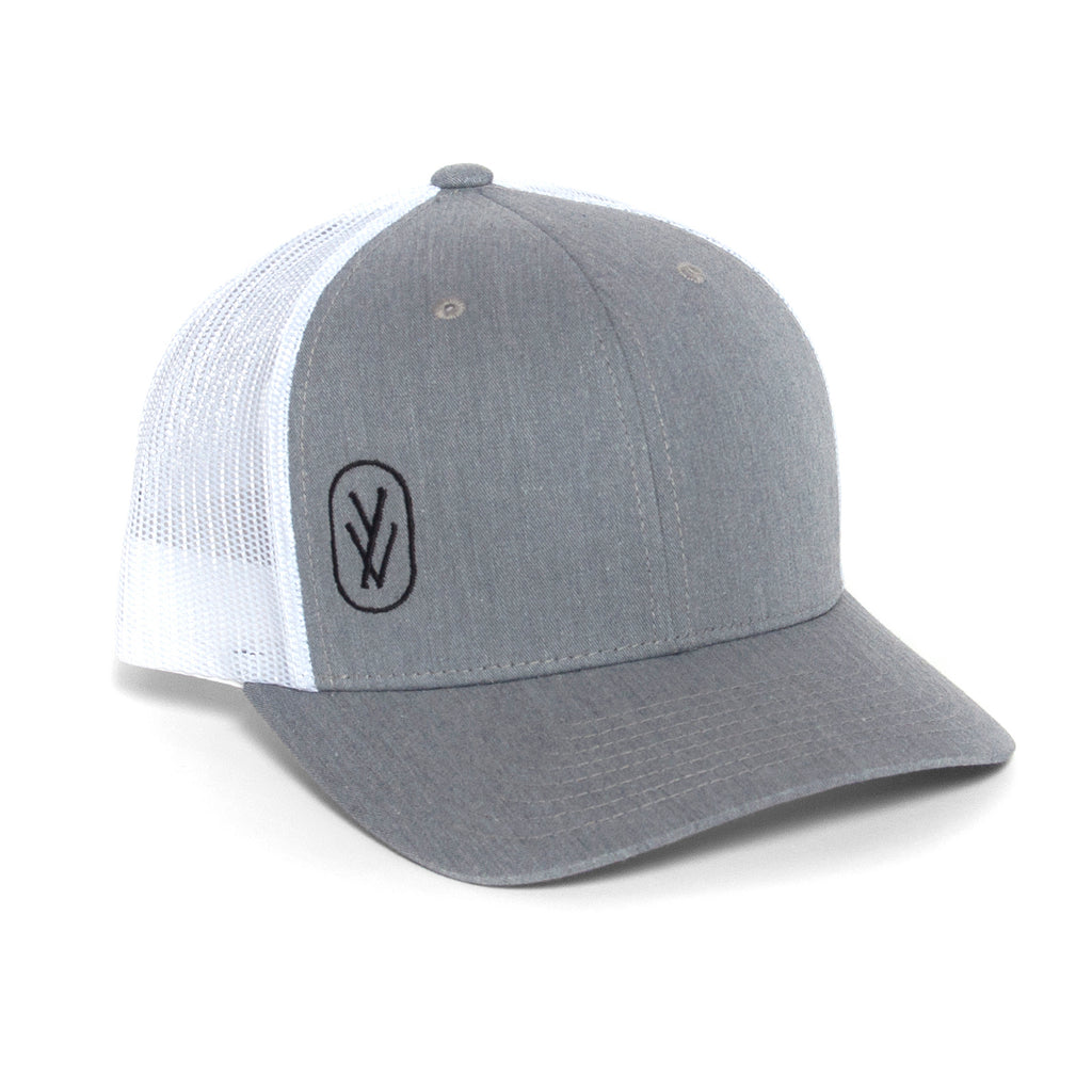 YOGA VIDA TRUCKER HAT, GREY