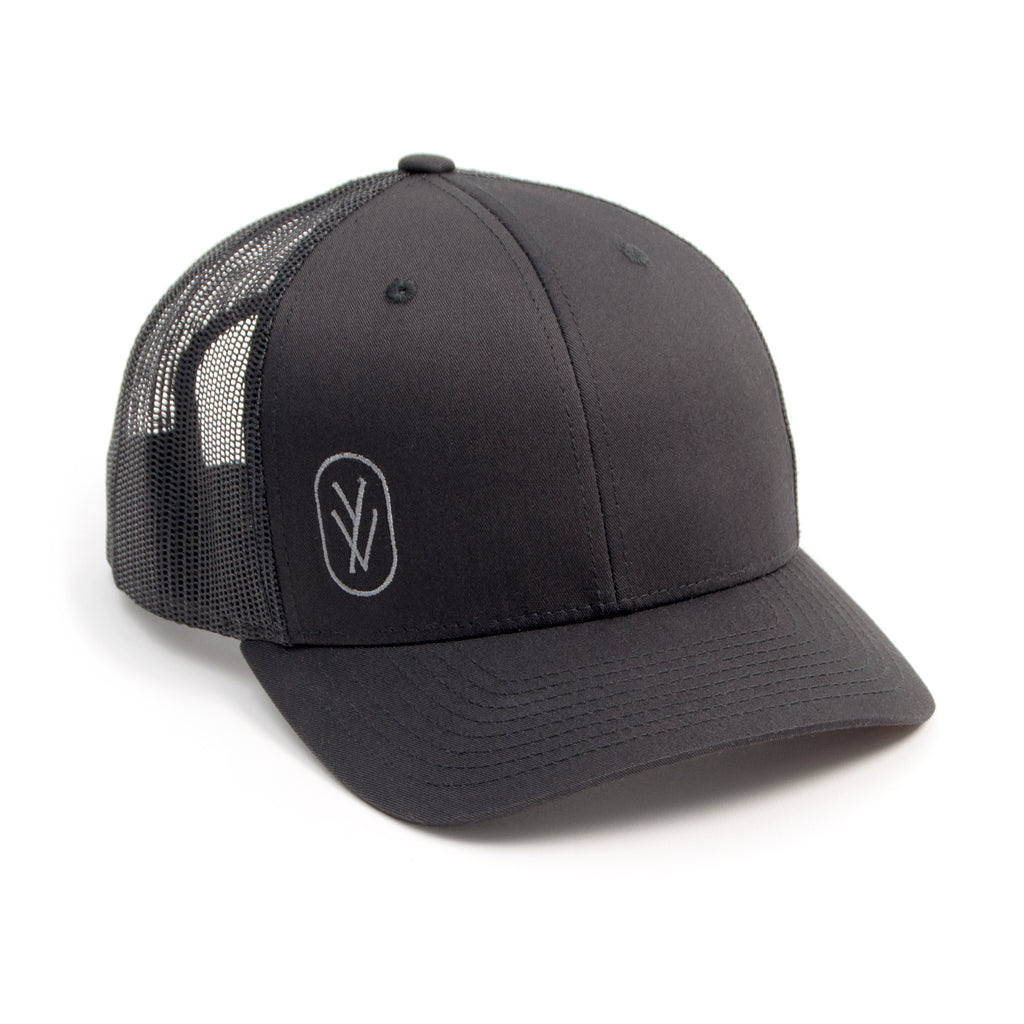 YOGA VIDA TRUCKER HAT, BLACK