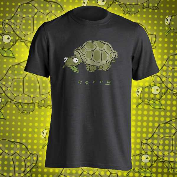 Terry The Tortoise Kids T Shirt