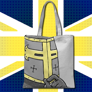 Spiffing Brit Crusader Tote Bag