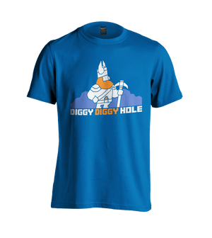 Yogscast: Lewis And Simon (Diggy Diggy Hole) Blue T-Shirt